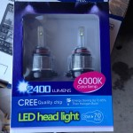 新商品!!LEDヘッドライトをプリウスに取り付けますが・・・